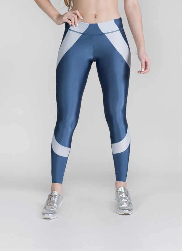 Calça Legging Feminina Academia Fitness UP Rise Surty Azul
